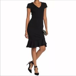 Betsey Johnson Black Crepe Sheath Dress